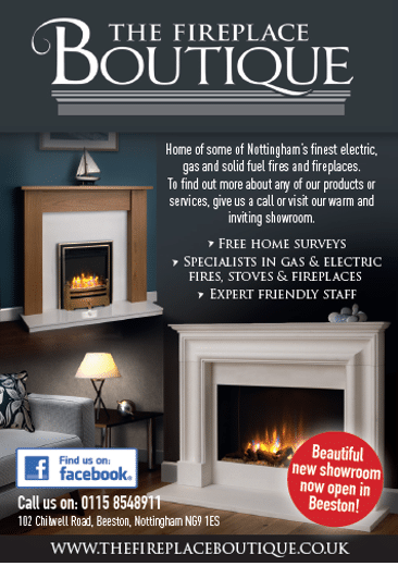 Fireplace Boutique advert
