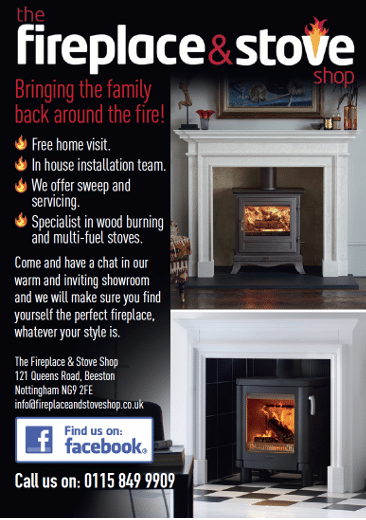 Fireplace and Stove shop advert