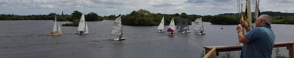 Racing at Attenborough Sailing Club